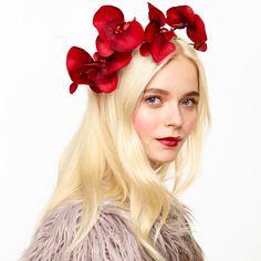 Image of CORDELIA Floral Orchid Headband