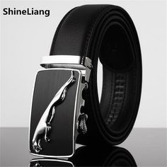 Men Belt Leather Famous brand Designers high quality Luxury Wide3.5CM Metal automatic buckle Waist strap for Hombre male Fashion