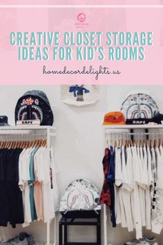 We've compiled a list of several ways you can adapt your child's closet to be more efficient. All of these projects will not only increase the ease to which you can find your kid's clothing, but they will also multiply the amount of space you have to store toys and other items.  #home #kids #closet #decor #home #homedecor