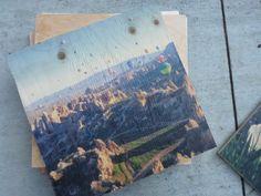 Hot Air Ballooning in Cappadocia, Turkey. A 12x12 woodprint by resurfaced