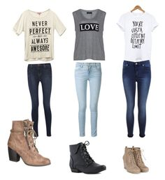 """My three best friends"" by pyperdado on Polyvore featuring Wet Seal, J Brand, maurices, Carmakoma, Frame Denim and Miss Selfridge"