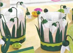 New Year's Crafts, Clay Pot Crafts, Easter Crafts, Diy Crafts, Chinese New Year Crafts For Kids, Spring Crafts For Kids, Spring Activities, Art Activities, Paper Flowers Diy
