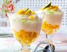 Das Rezept für Limetten-Joghurtcreme mit frischer Mango und weitere kostenlose Rezepte auf LECKER.de