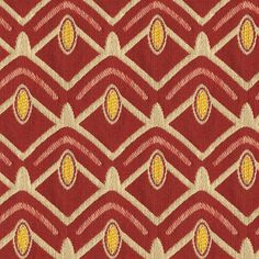 The AX587 Avion Pioneer upholstery fabric by KOVI Fabrics features Geometric pattern and Red, Yellow, True Red as its colors. It is a Woven, Chenile type of upholstery fabric and it is made of 36% Cotton 29% Rayon 23% Polyester 12% Polyester material. It is rated Exceeds 65,000 Double Rubs (Heavy Duty) which makes this upholstery fabric ideal for residential, commercial and hospitality upholstery projects. Call 800-860-3105