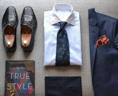 """suitandtiefixation: """" #outfit 41: smart look with my bespoke tie by @seaward_and_stearn featuring also my most recent read """"True Style"""" by G. Bruce Boyer. """""""