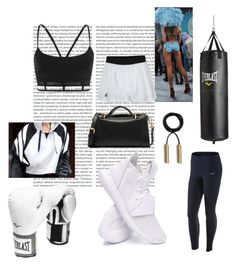 """Hard GYM"" by marijanes2 ❤ liked on Polyvore featuring Everlast, adidas, Alexander Wang and MICHAEL Michael Kors"