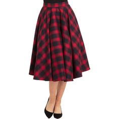 Inked Boutique - May Plaid Full Circle Skirt Red (Also available in red plaid!) Retro Rockabilly Vintage www.InkedBoutique.com