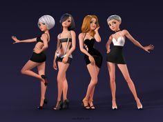 3dD Character, Girls's Power cartoon
