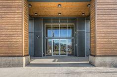Beautiful Summer Wheat RusticSeries Siding on Allura Fiber Cement. Contemporary Wood Siding Look. Architectural Design. Beautiful multifamily development.