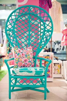 We're in the middle of a peacock chair revival, folks! If you've noticed a slew of DIY peacock chair projects and woven chair makeovers, there's good Painted Furniture, Diy Furniture, Painted Wicker, Wicker Furniture, Painted Bamboo, Bedroom Furniture, Peacock Chair, Butterfly Chair, Take A Seat