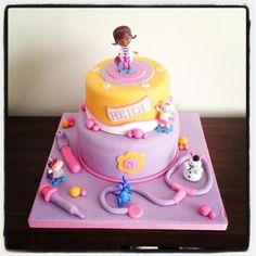 doc mcstuffins cake | Birthday Cakes >> Doc Mcstuffins Doc McStuffins cake!! Birthday party pop cake girl pink violet rose mauve docteur la peluche