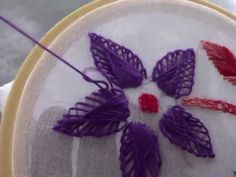 Hand Embroidery: Twisted Chain Flower Stitch - YouTube