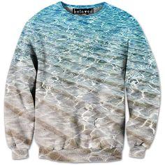 Beach Water sweatshirt from BelovedShirts.com  I love it :) http://belovedshirts.com/products/beach-water-sweatshirt  #sexysweaters #sweaterweather #wishIwasonthebeach