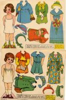 Paper Dolls. Used to have to cut them out yourself, then they made punch-out ones.