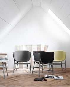 Cecilie Manz Minuscule Chair -The minuscule™ chair comes fully upholstered in Remix fabric in19 unique and different designer selections.The sculptural shell with natural leather piping creates a severe edge towards the inner shell which curves downwards. #FritzHansen #CecilieManz