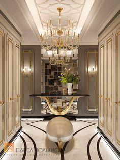 Фото холл из проекта «Дизайн квартиры в стиле парадной неоклассики с элементами арт-деко, элитный жилой комплекс «Привилегия», 250»