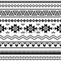 Aztec mexican seamless pattern Stock Vector