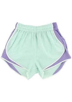 Lauren James Co Mint & Lavender Seersucker Shorties