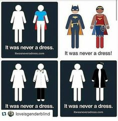 'It was never a dress' campaign will change how you see bathroom signs  forever.