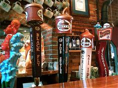Beer Taps at Gritty McDuff's | Danthonia Designs Blog