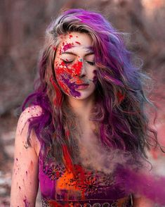 The one that I shot last winter but I forgot to post on my page. Paint Photography, Girl Photography Poses, Creative Photography, Makeup Photography, Girl Photo Poses, Girl Photos, Holi Girls, Holi Pictures, Holi Photo