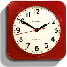 red clock | Mercury Wall Clock Red red, clock, home accessories