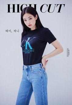 Blackpink's Jennie Looks Chic in Calvin Klein Pictorial K Pop, Korean Star, Korean Girl, Asian Girl, Blackpink Fashion, Korean Fashion, Fashion Outfits, Blackpink Jennie, Barbie