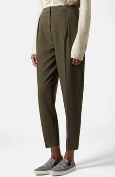 Topshop Straight Leg Crop Pants   Nordstrom