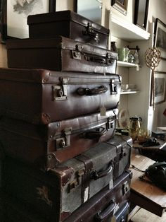 vintage suitcases look good anywhere ...