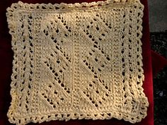 Ravelry: Diamond Panel Dishcloth pattern by Emily Jagos