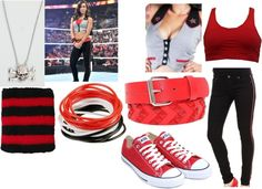 """AJ Lee WWE Monday Night RAW 3/19/12"" by wwegirl423 ❤ liked on Polyvore"