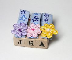 Children hair clip bundle  mixed flowers on by JigulinsHA on Etsy, $7.95
