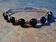 Black Tourmaline Healing Energy Bracelet ~ Black Tourmaline is grounding, protective & empowering, promotes self-confidence & objective views, soothes panic attacks, dispels negative energy and enhances focus.