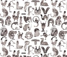 A is for animal! fabric