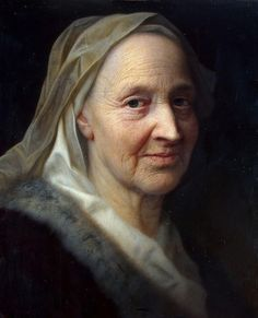 'Portrait of an Old Woman'  by Balthasar Denner  (1685– 1749)
