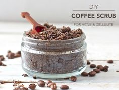 Coffee Scrub for Acne & Cellulite  Coffee, more than a morning energy booster, it can be used a natural exfoliator for face and body. If you want shiny and smooth legs like Miranda Kerr, start scrubbing with coffee!  [INGREDIENTS]  Coffee ground - It has no antioxidant value when consumed but when used topically it can help stimulate the circulation of blood that helps gets rid of cellulite and  deep exfoliates the skin to treat clog pores.  Coconut Oil* - A natural moisturizer that helps…