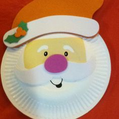 laboratori per bambini di natale addobbi natalizi riciclo christmas craft kids babbo natale piatti carta & Paper Plate Santa Craft | Santa crafts Santa and Craft