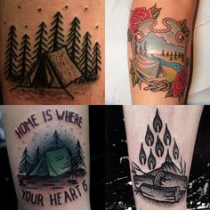 I luv Kamping.... but, I guess not THIS much.....Do you love camping enough to get a tattoo? ;)