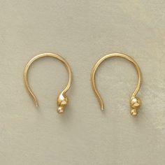 18KT GOLDPLATE DOUBLE DOT EARRINGS