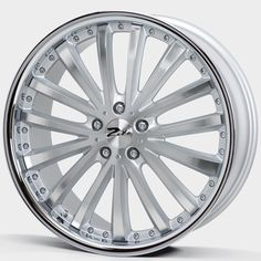 20 ZITO ORLANDO SILVER POLISHED INOX alloy wheels for 5 studs wheel fitment in 9.5x20 rim size