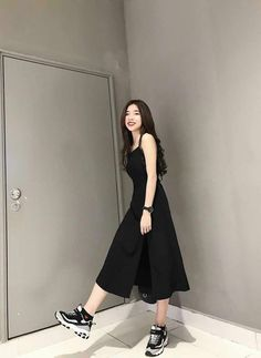 Korean Girl Fashion, Korean Fashion Trends, Korean Street Fashion, Ulzzang Fashion, Korea Fashion, Asian Fashion, Fashion Ideas, Fashion Top, Fashion Black