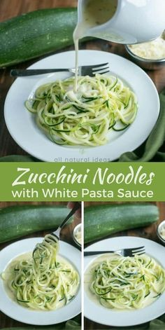 Learn how to make zoodles to transform your spaghetti dishes healthier. Enjoy them with a simple white pasta sauce or no sugar added marinara. | LowCarbYum.com via @allnaturalideas