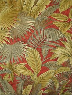 "Bahamian Breeze Nutmeg.  Tommy Bahama Fabric - Island Memories Collection. 100% cotton canvas tropical print. Multi purpose home decorator fabric for drapery, upholstery, pillows, top of the bed or slipcovers. V 27"" / H 27"". Made in U.S.A. 54"" wide."