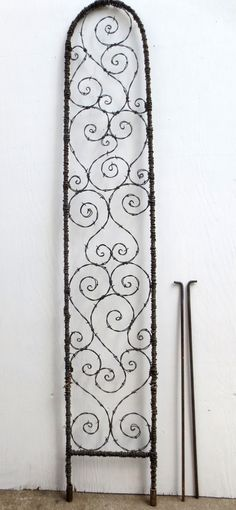 Lovely Spirals 72 X 12 Barbed Wire Spirilian by thedustyraven, $159 Hand made in Hamilton, Montana!