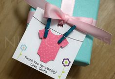 Personalized Girl Baby Shower Favor Tags  Pink by NHACreatives, $18.00