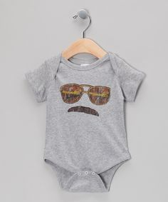 Finley is gonna look like a badie! Heather Gray Magnum P.I. Bodysuit - Infant on zulily today!