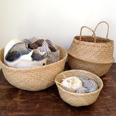Rice Baskets (Natural) | Fringe Supply Co.   Obsessed! via @Fringe Association