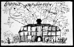 Lyonel Feininger, postcard for the Lantern Festival 21 June 1922.