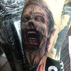 the walking dead tattoo - zombie by Craig Holmes @ iron horse tattoo