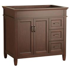 Foremost Ashburn 36 in. W x 21.625 in. D x 34 in. H Vanity Cabinet Only in Mahogany-ASGA3621DR at The Home Depot